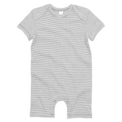 Babybugz Unisex baby kortärmad randig bodysuit 3-6 Months Vit /