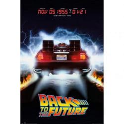 Back To The Future Delorean affisch One Size Svart / flerfärgad