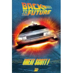 Back To The Future Stor Scott affisch One Size Flerfärgade