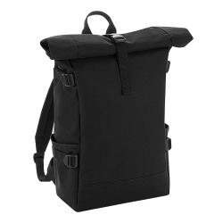 BagBase Block Roll-Top-ryggsäck One Size Black / Black