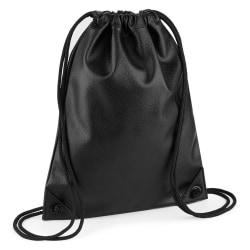 BagBase Faux Leather Gymsac One Size Svart