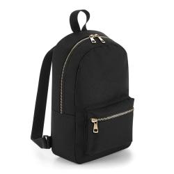 BagBase Metallic Mini-ryggsäck One Size Svart guld