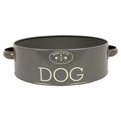 Banbury & Co Hundfodringsskål One Size Grå