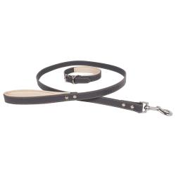 Banbury & Co Lyxig hundkrage och blyuppsättning One Size Grå