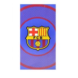 Barcelona FC Bullseye Beach Handduk 140cm x 70cm Röd / gul / blå