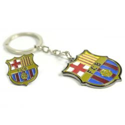 Barcelona FC Crest Nyckelring Och Badge Set One Size Flerfärgade