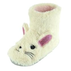 Barn / Barn Bunny Bootie tofflor 9-10 UK Child Grädde
