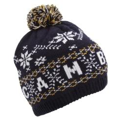 Barn / barn Fairisle Mönster Cambridge Winter Bobble Hat One Siz