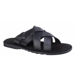 Base London Apollo Waxy Leather Sandal för herrar 6 UK Svart