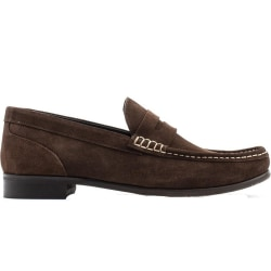 Base London Herr Cassio mocka Slip On Leather Loafer 11 UK Brun