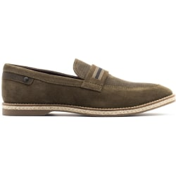 Base London Herr Kinsey Mocka Slip On Loafer 12 UK Kaki