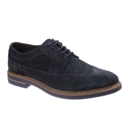 Base London Herr Turner Suede Leather Brogue Sko 11 UK Marin