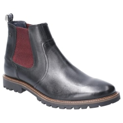 Base London Herr Wilkes Washed Leather Chelsea Boot 6 UK Svart