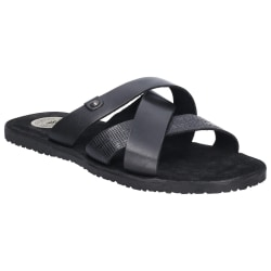 Base London Herrvagn Waxy Slip On Leather Sandal 8 UK Svart