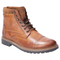 Base London Herrvaktel Burnished Leather Brogue Boot 7 UK Solbrä