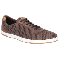Base London Mens Hustle Mesh Lace Up Trainer 8 UK Brun