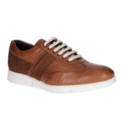 Base London Mens Tide Suede snörningskor 8 UK Solbränna