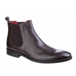 Base London Mens Waxy Cheshire Leather Chelsea Boot 10 UK Brun