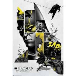 Batman 80-årsjubileum 122-affisch One Size Grå / svart / gul