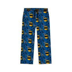 Batman Mens Lounge Byxor L Blå / gul