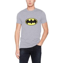 Batman Unisex Vuxna Logo Design T-shirt XXL Grå