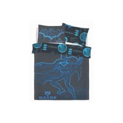 Batman Wayne Industries täcke-set Double Blå