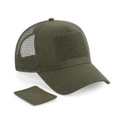 Beechfield Patch Snapback Trucker Cap One Size Militärgrön