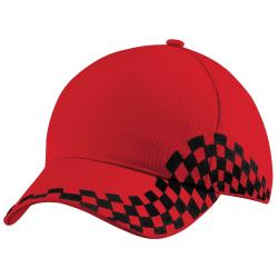 Beechfield Unisex Grand Prix Baseball Cap One Size Klassisk röd