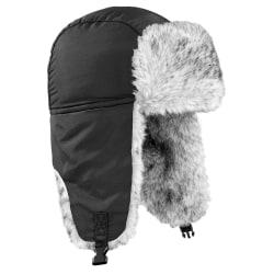Beechfield Unisex termisk vinter Sherpa Trapper Hat L/XL Svart