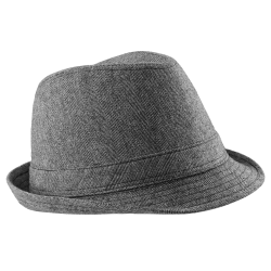 Beechfield Unisex Urban Trilby Hat (50% Ull) LXL Grå