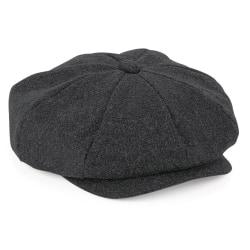 Beechfield Unisex vuxna Melton Wool Baker Boy Cap L/XL Charcoal