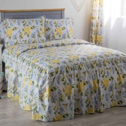 Belledorm Arabella Country Dream Bedspread King Vit / Blå / citr