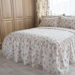 Belledorm Delphine sängäcke King Vit / gul / rosa