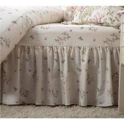 Belledorm Rose Boutique Fitted Valance Kingsize Ivory / Pink / G