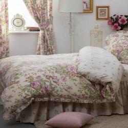 Belledorm Rose Boutique-täcke Kingsize Ivory / Pink / Grön