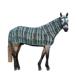 Belvoir Rug Company Honsie Original Large Aqua Tiger Stripe med