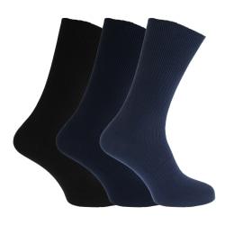 Big Foot Non Elastic Diabetic Strumpor för män (3 par) UK 6-11 E