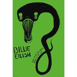 Billie Eilish Ghoul-affisch One Size Grön
