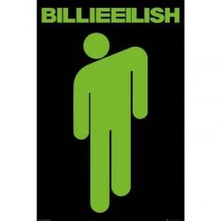 Billie Eilish Stickman-affisch One Size Svart / Grön