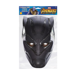 Black Panther Karaktär Party ansiktsmask One Size Flerfärgade