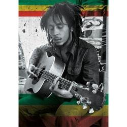 Bob Marley Gitarrvykort A6 Svart vit