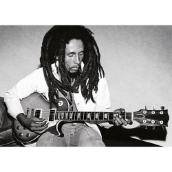 Bob Marley Redemption Song Postcard A6 Svart vit
