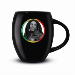 Bob Marley Tricolor cirkelmugg One Size Svart