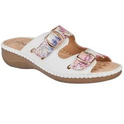 Boulevard Dam- / damblommor med tvillingspänne Mule Sandal 5 UK