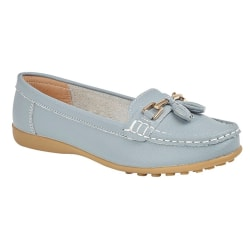 Boulevard Dam / Damer Action Leather Tassle Loafers 4 UK Baby bl