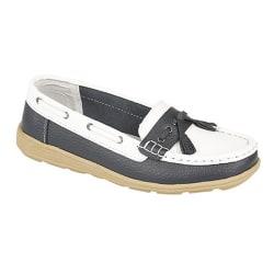 Boulevard Dam / Sadel / Tassle Boat Shoes för damer 8 UK Vit / m
