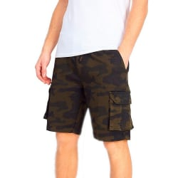 Brave Soul Camo Cargo Shorts för herrar L Kaki