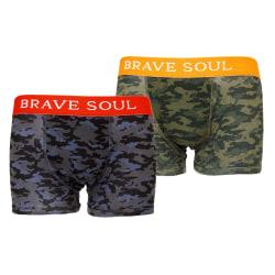 Brave Soul Camouflage Print Hipster Boxers för män (paket med 2)