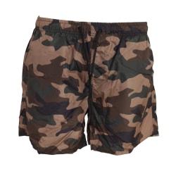 Brave Soul Camouflage Print Swim Shorts för herrar XL Khaki Camo