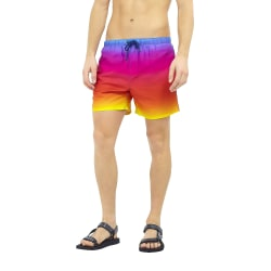Brave Soul Herr-regnbåge Ombre Design Swim Shorts M Soluppgång